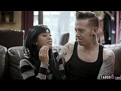 Big brother comforts his upset Asian teen girlf...