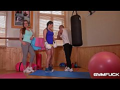 GymFuck Threesome for Horny coeds Inna & Angeli...