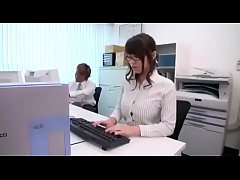 Japanese Office lady is getting a f. deepthroat...