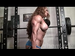 Naked Female Bodybuilder Redhead Cougar Topless...