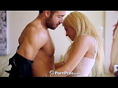 PornPros - Busty blonde Kayla Kayden tries on h...