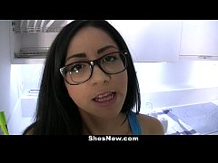 ShesNew - Nerdy Spanish GF Gets Filled With Jizz