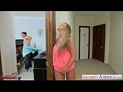 Busty girlfriend Alexis Adams fuck a large dick