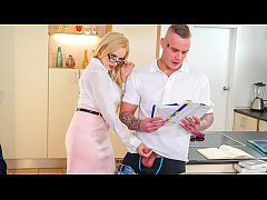 KINKY TUTOR - Hot MILF Angel Wicky seduces & ba...