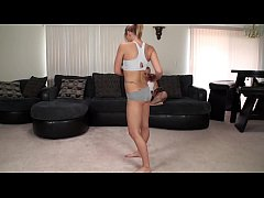 Hot step daughter works out and gets creampied