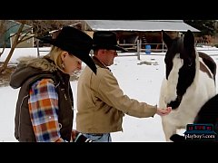 Swinger cowboy couple first time orgy with othe...