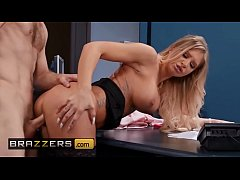 Seductive blonde (Alison Avery) fucks her emplo...