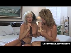 Cougar Deauxma Looks On As Hubby Butt Fuck Sall...