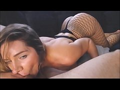 Hot blonde busty girl hard cock sucking and coc...