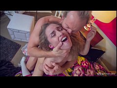 Nympho Spinner Natasha White Stuffed With Big W...