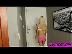 Skinny teen Uma Jolie seduces older guy and get...