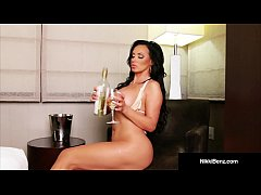 Smoking Hot Nikki Benz Pounds Her Pussy with a ...