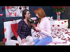 Lesbea German teen redhead valentine 69 and sci...