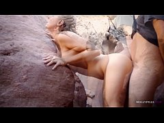 Hot Couple has Passionate sex in cave - Molly P...