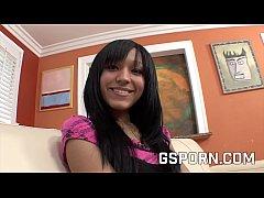 Ebony teen Tess Morgan fucked by white cock