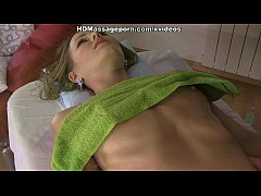Sultry bimbo Sabrina getting naked massage and ...