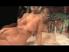 Young babe in pink lingerie gets drilled in all...