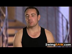 Swingers couple introduce themselves with other...