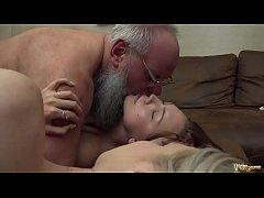 Grandpa has best orgasm when teens suck on his dick and cum swap like naughty girls