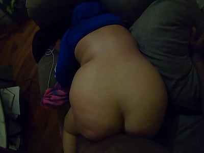 Pounding my roommates big booty wife on the counch