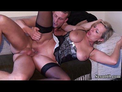 Young Boy Seduce German MILF Friend of m. to Fuck