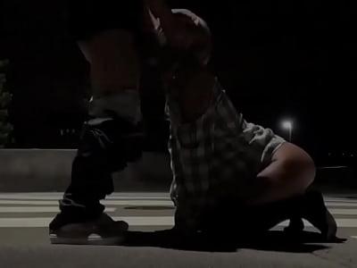 黒ギャル綾那(あやな) 野外フェラ