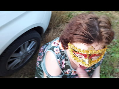 Chubby russian MILF fucked outdoor in the field