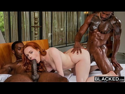 BLACKED Insatiable Ella can't keep her hands to...