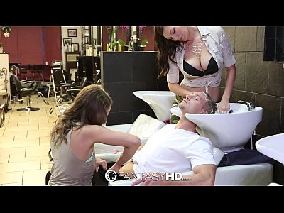 FantasyHD - Babes Lily and Holly have threesome...