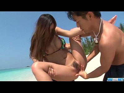 Yui Nanase goes wild on cock in outdoor show - ...