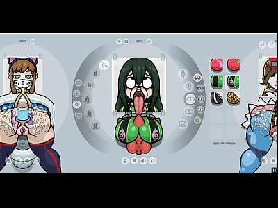 Fapwall [Rule 34 Hentai game] Tsuyu Asui from m...