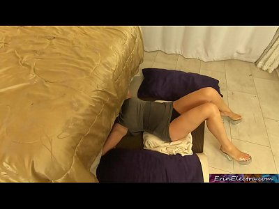 Your stepmom gets herself stuck under the bed and you get to have sex with her (POV) - Erin Electra