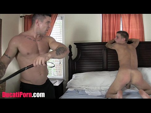 Twink Gets Flogged By Muscle Daddy