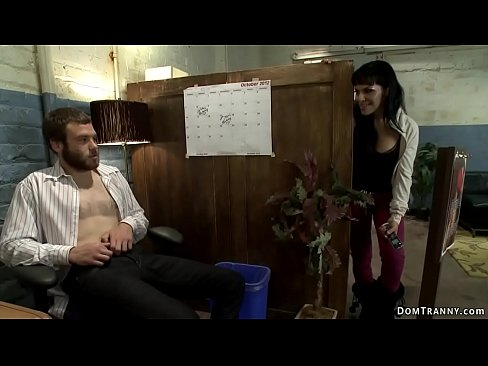 Busty shemale fucks tricked colleague