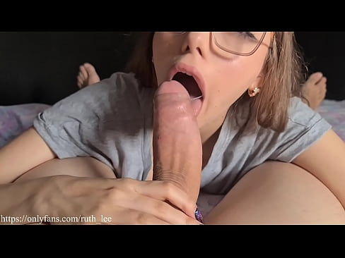 Young girl devours big cock