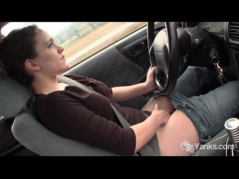 naked sexy car girl