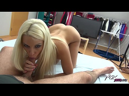 Blonde pornstar Blanche Bradburry ride strangers big cock & creampie