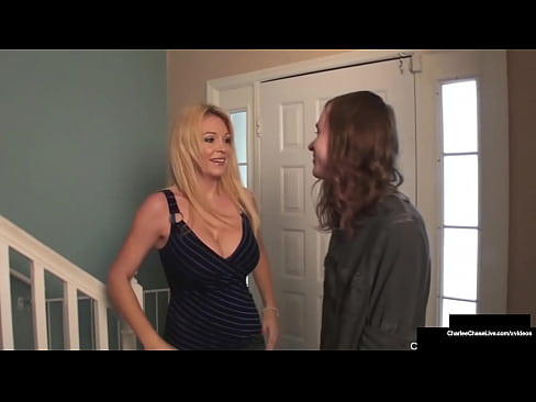 Horny Perverted Mommy Charlee Chase Fucks & Sucks Off Son's Best Bud!