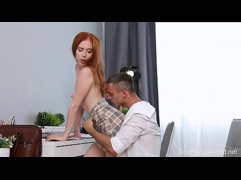 FuckStudies.com - Holly Molly - Ginger chick demands cum