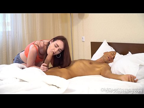 Old Goes Young - Talented cock sucker gives old dude a deep blowjob