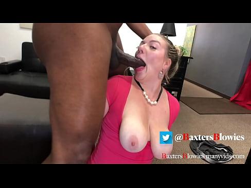 Huge Tit Blonde Facefucks BBC