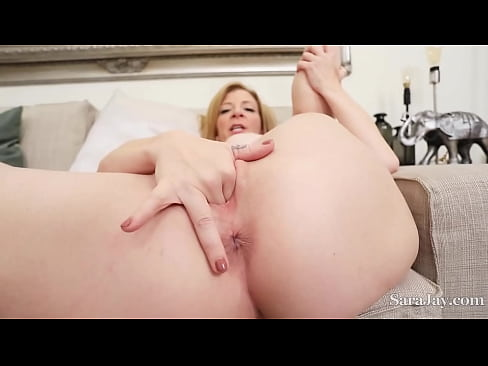 Busty PAWG Sara Jay Plays With Her Pussy Juice And Fingers To Orgasm!
