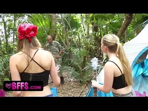 BFFS- Camping Sluts Fuck Homeless Man