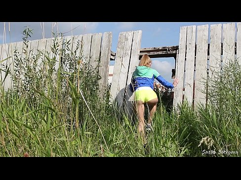 Russian Girl Sasha Bikeyeva - Fit girl caught by a Construction worker when she masturbated at a construction site after a run - ENGLISH SUBTITLES