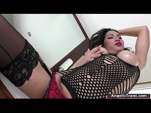 Tranny Maple analed by tattooed guys cock