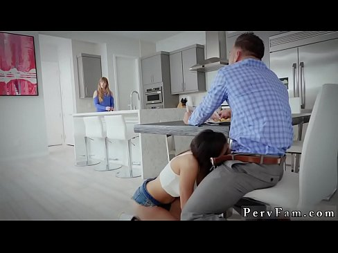 French mom and patron's daughter first time Hot Family Breakfast Sex