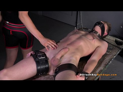 Big Dick Blonde Twink Has Feet Tortured & Cums While Bound - DreamBoyBondage.com