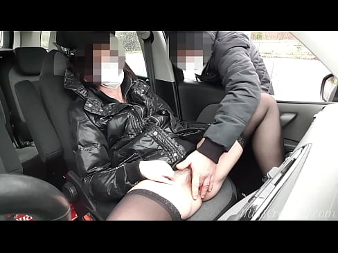 Dogging my wife in public car parking after work and a voyeur masturbates her pussy until she squirts - MissCreamy