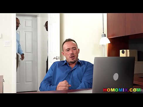 Intern Jacking Off To IR Gay Porn At Work In Front Of Audience