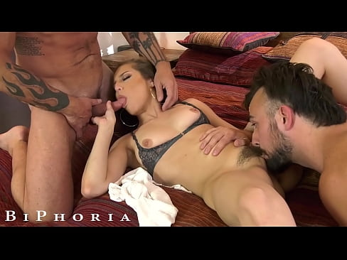 Hot Bisexual Couple Share Their First Cock Together - BiPhoria